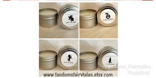 Wizard Candles Set of Two- Choose from 6 magical wizarding inspired scents