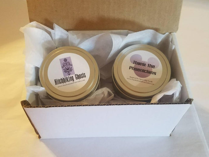 Set of Two WDW Inspired Candles, Perfect gift for WDW Fans!