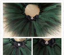 Load image into Gallery viewer, Haunted Mansion Cast Member Colors Tutu - Green/black - haunted mansion cm costume tutu