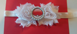 Pokeball Headband - Shabby Chic Headband