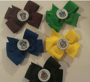 Wizarding House Large Hair Bows