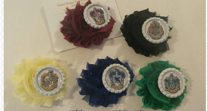 Wizarding House Flower Hair Clips