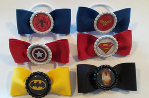 Superhero Hair Bows