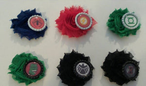 Superhero Flower Hair clips