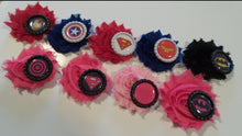 Load image into Gallery viewer, PInk Superhero Flower Hair clips
