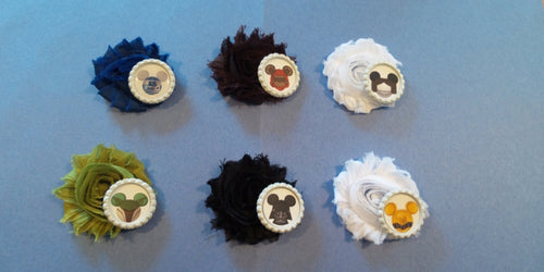 Mickey Eared Star Wars inspired Flower Hair Clips