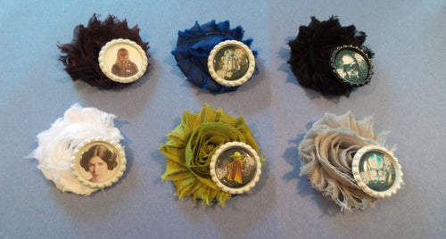 Star Wars inspired Flower Hair Clips