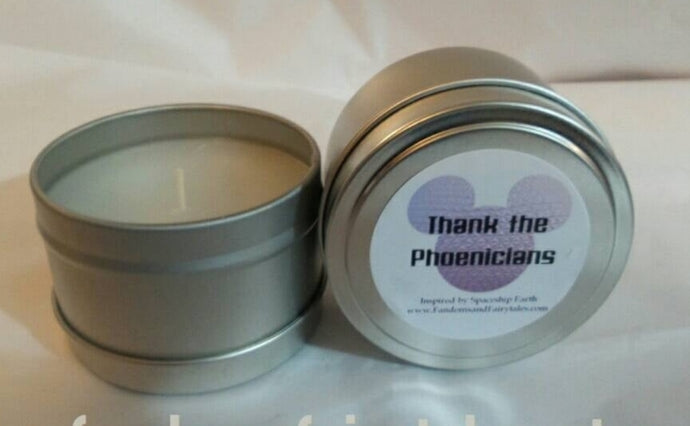 Thank the Phoencians candles, wax melts or room spray