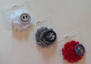 NMBC Flower Hair Clips - Jack, Sally, Zero