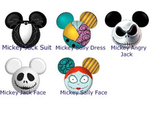 Load image into Gallery viewer, NMBC Flower Hair Clips - Jack, Sally, Zero