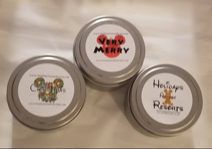 WDW Holiday Candle Trio - Very Merry, Christmas Party and Holidays at the Resorts