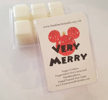Load image into Gallery viewer, Very Merry Wax Melts and Candles Peppermint Hot Cocoa and Sugar Cookie Scented