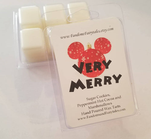 Very Merry Wax Melts and Candles Peppermint Hot Cocoa and Sugar Cookie Scented