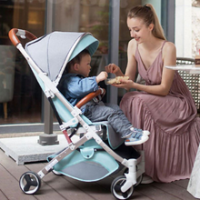 Load image into Gallery viewer, Baby Stroller Lightweight Portable Travel System - Camanda Baby - mom feeding baby in travel system stroller