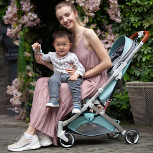 Baby Stroller Lightweight Portable Travel System - Camanda Baby - mom and baby in stroller to show weight capacity