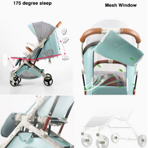 Baby Stroller Lightweight Portable Travel System - Camanda Baby - mesh window and 175 degree incline for sleep