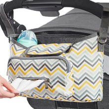 Load image into Gallery viewer, Baby Stroller Organizer & Diaper Bag - Camanda Baby - stroller bag on stroller with wipe dispenser