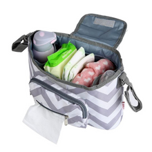 Load image into Gallery viewer, Baby Stroller Organizer & Diaper Bag - Camanda Baby - items in stroller bag
