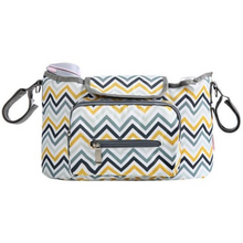 Load image into Gallery viewer, Baby Stroller Organizer & Diaper Bag - Camanda Baby - Yellow Chevron