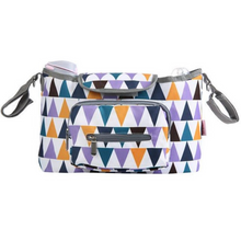 Load image into Gallery viewer, Baby Stroller Organizer & Diaper Bag - Camanda Baby - Multi Color Triangle