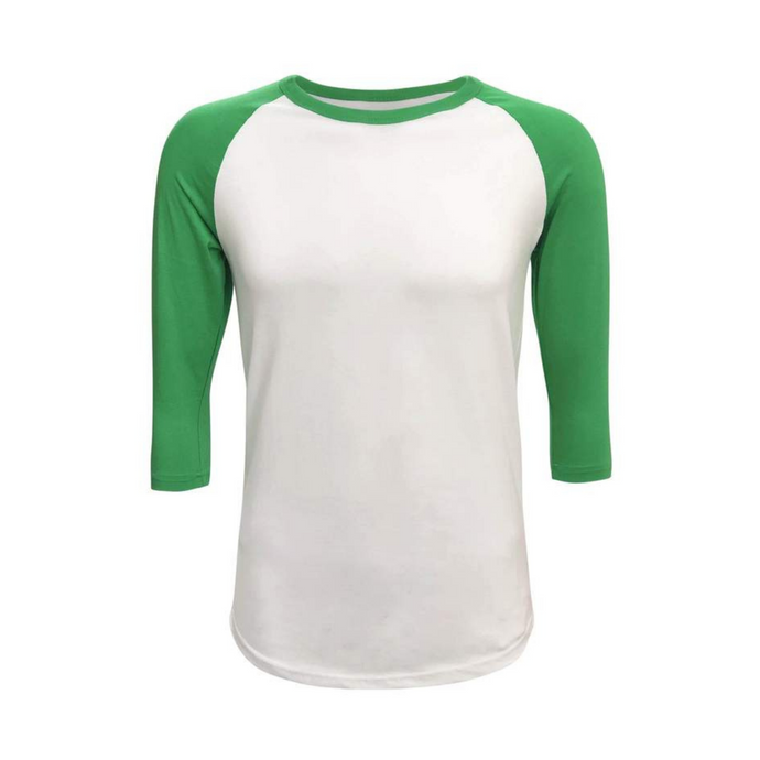Unisex White & Solid Colored Sleeve Raglan Made To Order Shirts - Camanda Baby