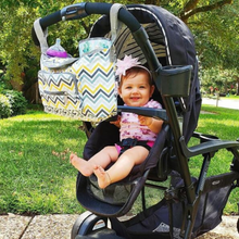 Load image into Gallery viewer, Baby Stroller Organizer & Diaper Bag - Camanda Baby - baby in stroller with stroller bag.