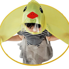 Load image into Gallery viewer, Kids Cartoon Rubber Ducky Poncho Rain Cover - Camanda Baby - [variant_title]
