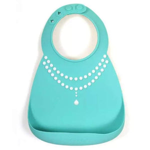 Waterproof Silicone Baby Food-Grade Bibs - Mint Necklace - Camanda Baby