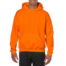Load image into Gallery viewer, Neon Orange Gildan Heavy Blend Unisex Hoodies - Camanda Creations - Small