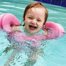 Load image into Gallery viewer, Toddler Swim Float Puddle Jumper Non Inflatable - Camanda Baby - toddler girl with pink puddle jumper