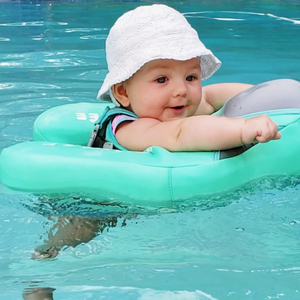 Safety Swimming Pool Float Solid Non Inflatable - Camanda Baby - side view of baby in pool float