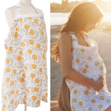 Load image into Gallery viewer, Nursing/Breastfeeding Cover 100% Breathable Cotton - Camanda Baby - Yellow Floral