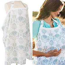 Load image into Gallery viewer, Nursing/Breastfeeding Cover 100% Breathable Cotton - Camanda Baby - Blue Floral