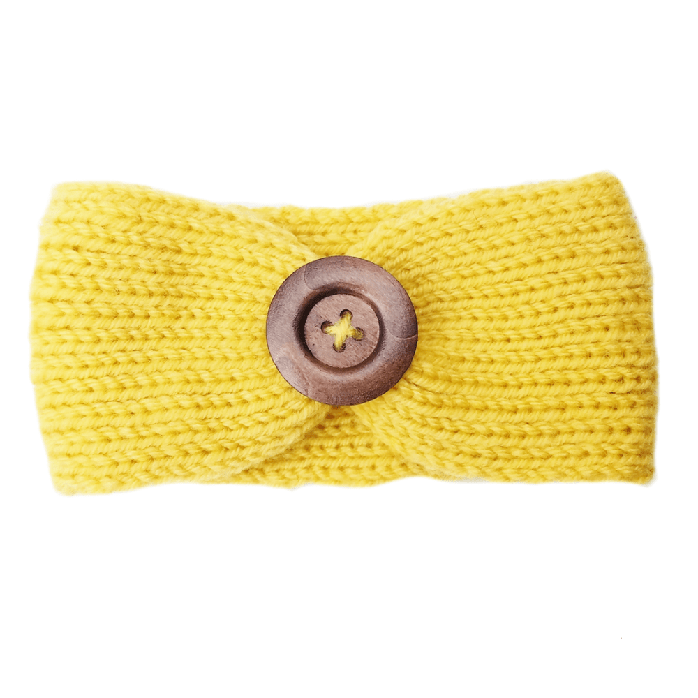 Soft Knitted Baby Headbands - Yellow - Camanda Baby