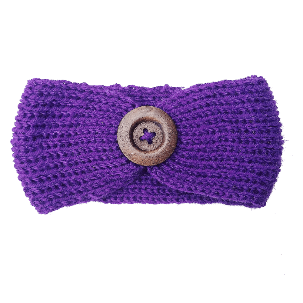 Soft Knitted Baby Headbands - Purple - Camanda Baby