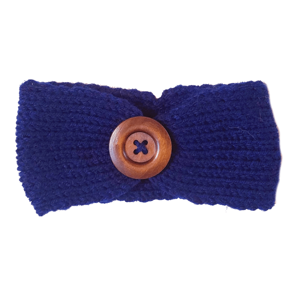 Soft Knitted Baby Headbands - Dark Blue - Camanda Baby