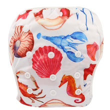 Load image into Gallery viewer, Reusable Adjustable Baby Swim Diapers - Camanda Baby - Sea Shell