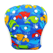 Load image into Gallery viewer, Reusable Adjustable Baby Swim Diapers - Camanda Baby - Whales