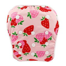 Load image into Gallery viewer, Reusable Adjustable Baby Swim Diapers - Camanda Baby - Strawberry