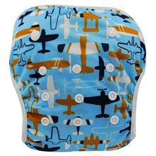 Load image into Gallery viewer, Reusable Adjustable Baby Swim Diapers - Camanda Baby - Airplane