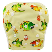 Load image into Gallery viewer, Reusable Adjustable Baby Swim Diapers - Camanda Baby - Fish