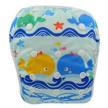 Load image into Gallery viewer, Reusable Adjustable Baby Swim Diapers - Camanda Baby - Blue Whale