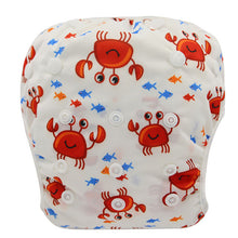 Load image into Gallery viewer, Reusable Adjustable Baby Swim Diapers - Camanda Baby - Crab