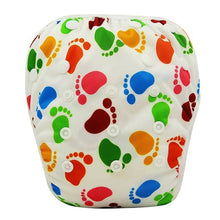 Load image into Gallery viewer, Reusable Adjustable Baby Swim Diapers - Camanda Baby - Foot Print