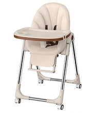 Load image into Gallery viewer, Baby Feeding Adjustable Folding High Chair with Wheels - Camanda Baby - Beige