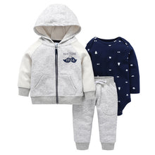 Load image into Gallery viewer, Baby Boy Matching Hoodie, Pants & Onesie Bodysuit Sets