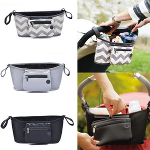 Baby Accessories Stroller Bag - Camanda Baby - grey chevron, grey and black baby stroller bags