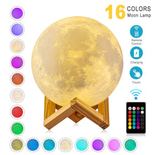 Load image into Gallery viewer, Moon Lamp Modern 3D Print 16 Colors LED Night Light - Camanda Baby - [variant_title]