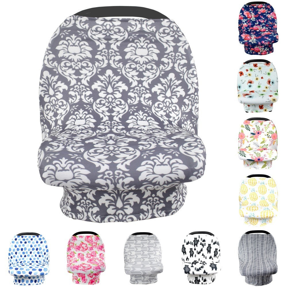 Car Seat Cover & Baby Nursing 6 in 1 Cover - [variant_title] - Camanda Baby