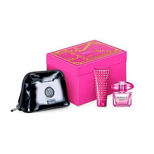 Bright Crystal Absolute 3Pc Gift Set 90ml EDP/Body lotion 100/Bag for Women by Versace
